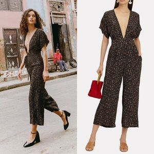 Faithfull The Brand Alena Wide Leg Floral Jumpsuit